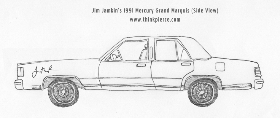 Jim's 1991 Mercury Grand Marquis (Side View)