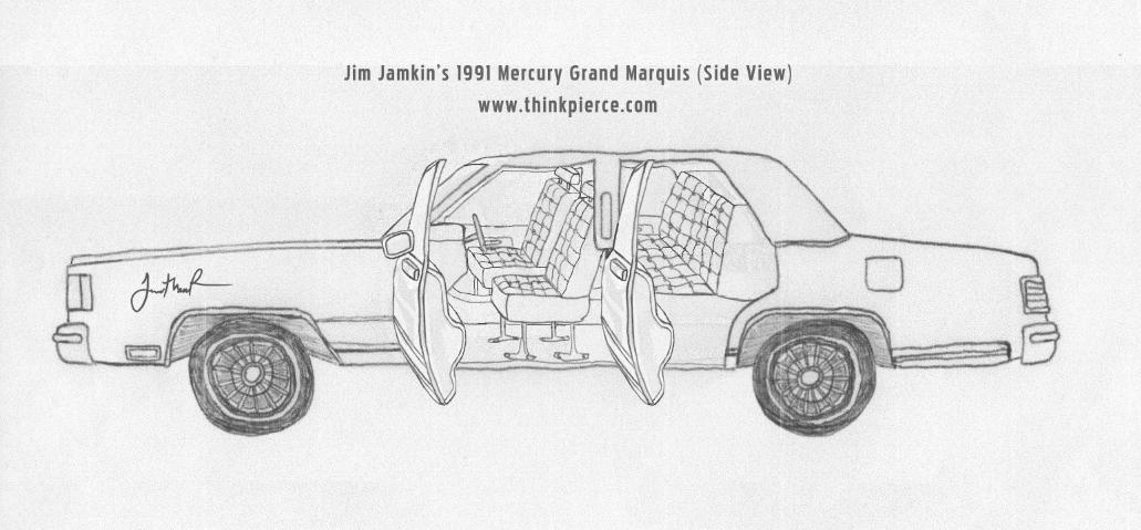 Posh Interior view of Jim's 1991 Mercury Grand Marquis