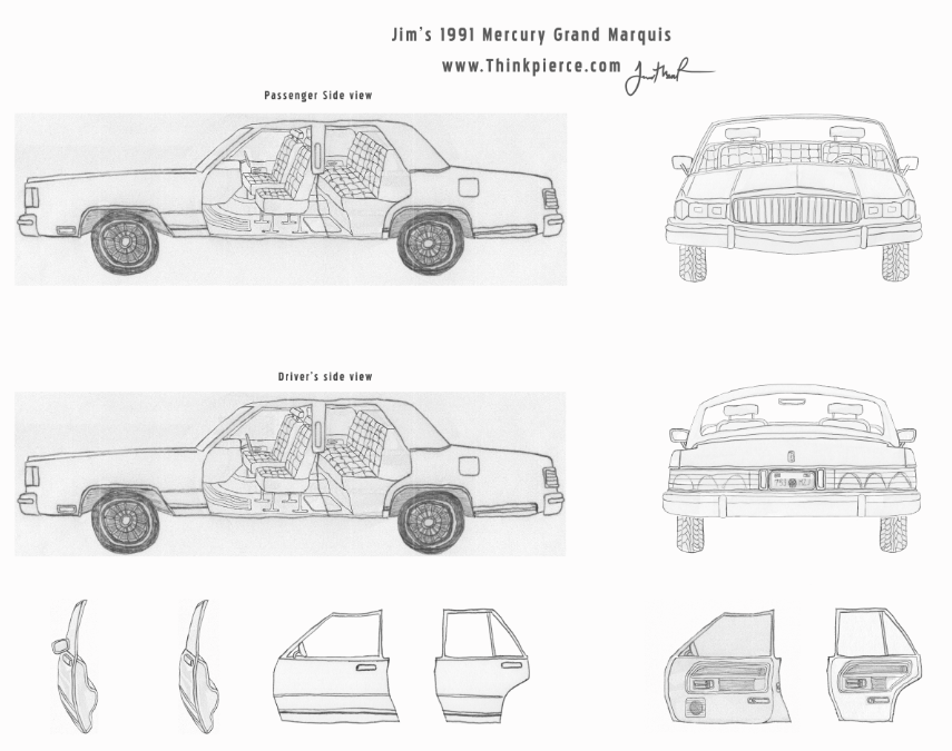 All of the elements of Jim's 1991 mercury completed!