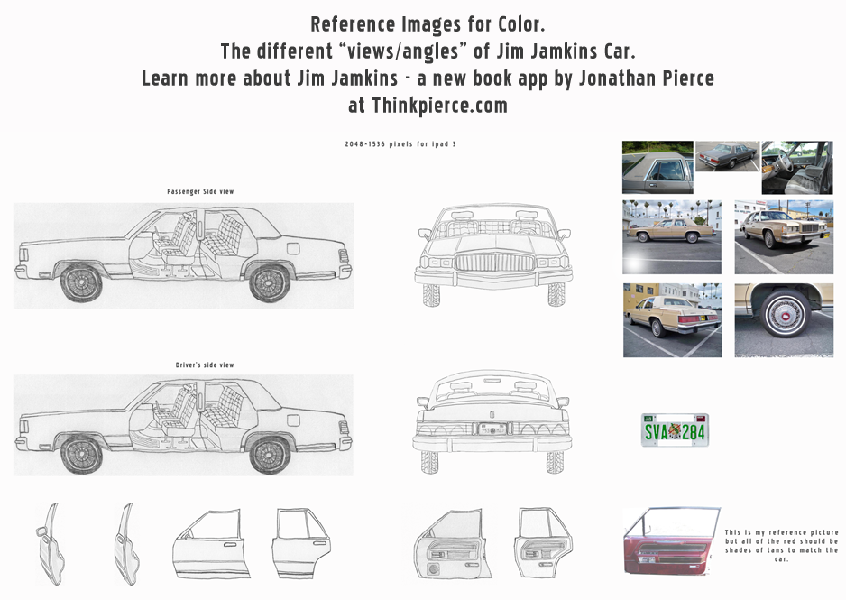 The color reference images for Jim Jamkins Car