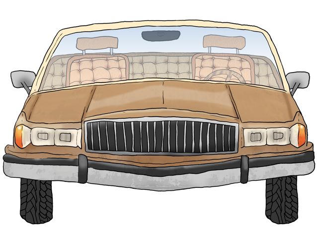 Front View of Jim's 1991 Mercury Grand Marquis