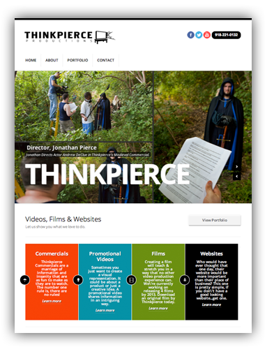 Thinkpierce Productions Website